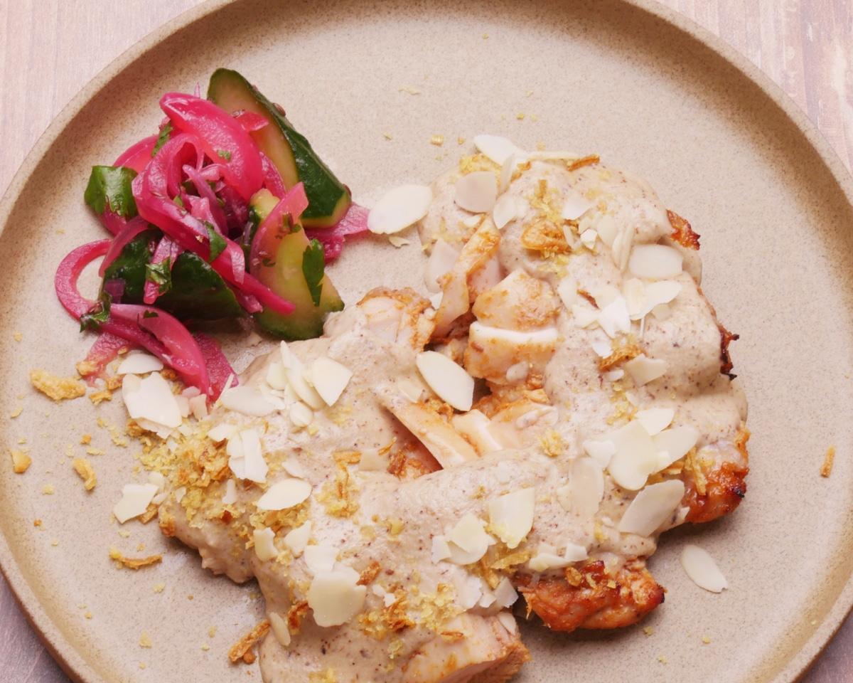 ムガール帝国の宮廷料理 濃厚カシューナッツクリームのムガールチキン